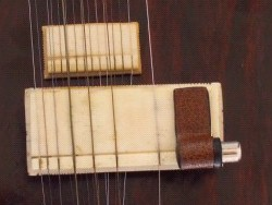 TAV pickups. Pickup on the main bridge of the sitar